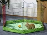 ДНО В ВОЛЬЕР манеж для мелких животных, нейлон - 105X105X10 см.