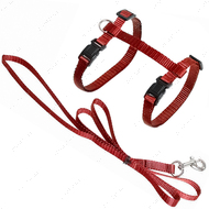 Шлея для котов красная Cat Harness and Leash Ziggi
