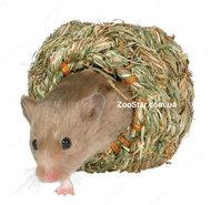 Домик гнездо для грызунов из травы