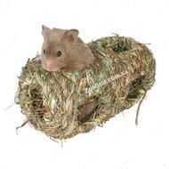 Домик гнездо двойное для грызунов из травы