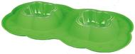 """""""DOUBLE BOWL SET"""" - двойная пластиковая миска с силиконовым поддоном для животных"""