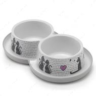 """Double Trendy Dinner Cats in Love"" миска для собак и котов, защита от муравьев"