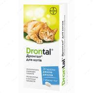 Таблетки для кошек от глистов Drontal