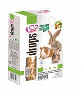 Дропсы ореховые для грызунов LoLo Pets Nut drops for rodents and rabbit