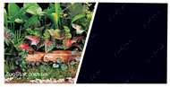 Двухсторонний фон Marina Double Sided Aquarium Backround 45см*7,5м зеленые растения - черный
