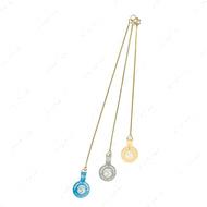 Латунная плетенная цепочка для собак Экстракласс золотая ExtraFine Gold