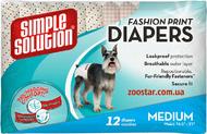 """""""Fashion Disposable Diapers Medium"""" - гигиенические подгузники для животных с узором"""