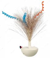 Игрушка для кошек неваляшка с перьями Feather Wobble, plastic