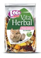 Кормовая добавка к основному корму цветущий луг для шиншилл LoLo Pets VITA HERBAL Flower meadow for CHINCHILLA