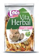 Кормовая добавка к основному корму кладовая овощей и фруктов для шиншилл LoLo Pets VITA HERBAL