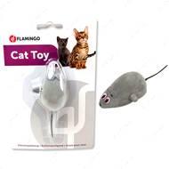 Игрушка для котов заводная мышка на колесиках Flamingo Wind UP