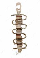 Игрушка для попугаев из натурального дерева с соломенной веревкой Gnawing Wood