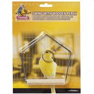 """""""SWINGWOODEN PERCH"""" игрушка для птиц, качели с деревянной жёрдочкой"""