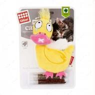 Игрушка для котов утка с карманом для кошачьей мяты BRONZEDOG GIGWI