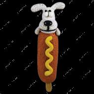 """""""Lil Corn Dog"""" разноцветная игрушка-пищалка для малых и средних  пород собак"""