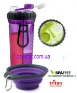 """Бутылка двойная для воды со складной миской для собак и кошек """"H-DuO™ with Companion Cup"""""""