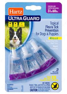Капли от блох,клещей и комаров для собак от 14 до 27 кг Ultra Guard Flea s Tick Drops