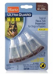 Капли от блох,клещей и комаров для собак свыше 27 кг Hartz UltraGuard Flea & Tick Drops For Dogs