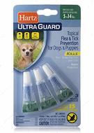 Капли от блох, клещей, комаров для собак, щенков до 7 кг Hartz Ultra Guard Flea s Tick Drops for Dogs s Puppies 3 в 1