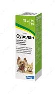 Капли Суролан для лечения отитов и дерматитов для кошек и собак SUROLAN