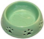 Керамическая миска  с лапками голубая, салатовая 150 мл, 200 мл