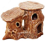 Керамический  домик для водяной черепахи двойной, маленький