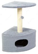 Когтеточка - дряпка  для кошек С домиком угловая  Д11