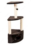 Когтеточка - дряпка  для кошек С домиком угловая  Д12