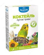 Коктейль Луговые травы и семена льна корм для волнистых попугаев