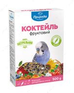 Коктейль Суперменю Фруктовый корм для волнистых попугаев, 500 грамм