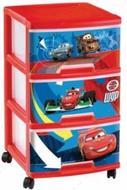 """Комод с тремя выдвижными ящиками """"Машинки"""""""