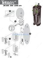 Комплект запчастей (крышка + регулятор)  для внутреннего фильтра Tetratec IN