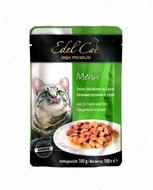 Консервы для кошек c индейкой и уткой в соусе Edel Cat pouch Mit Truthahn und Ente