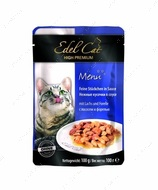 Консервы для кошек c лососем и форелью Edel Cat pouch Mit Lachs und Forelle