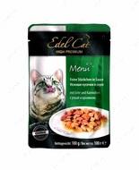Консервы для кошек c уткой и кроликом Edel Cat pouch Mit Ente und Kaninchen