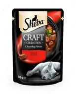 Влажный корм для котов с говядиной в соусе Sheba CRAFT cig POU