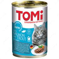 Консервы для котов лосось форель TOMi salmon trout