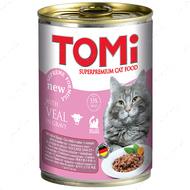Консервы для котов влажный корм Томи ТЕЛЯТИНА TOMi veal