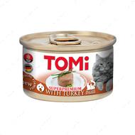 Консервы для котов с индейкой мусс TOMi Turkey