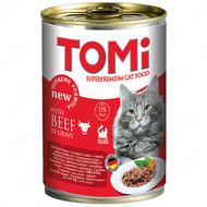 Консервы для котов влажный корм Томи ГОВЯДИНА TOMi beef