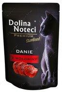 Консервы для стерилизованных котов с говядиной Dolina Noteci Premium Sterilised Danie