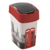 """Контейнер для мусора пластиковый """"FLIP BIN"""" №2, 25 литров """"Лондон, Париж"""""""