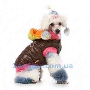 Коричневая курточка с капюшоном Размер 2