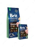 Корм для щенков и молодых собак 1-30 месяцев гигантских пород с курицей Brit Premium by Nature Junior XL
