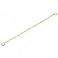 Круглое звено цепочка-ошейник для собак, 2 мм, позолоченная сталь
