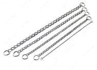 Круглое звено цепочка-ошейник для собак, 5 мм, хромированная сталь