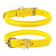 Круглый ошейник для собак желтый GLAMOUR WAUDOG