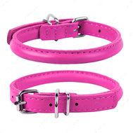Круглый ошейник для собак розовый GLAMOUR WAUDOG