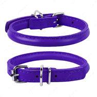 Круглый ошейник для собак фиолетовый GLAMOUR WAUDOG