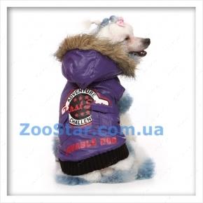 Курточка с капюшоном сиреневая